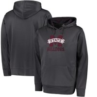 Mississippi State Bulldogs Colosseum Oil Slick Pullover Hoodie - Charcoal