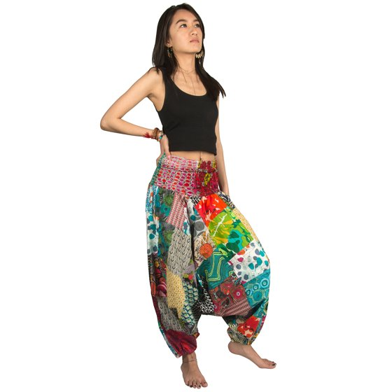 39af8c0105 Tribe Azure - Tribe Azure 100% Cotton Harem Pants Colorful Summer Hippie  Yoga Boho Casual Fashion Women - Walmart.com