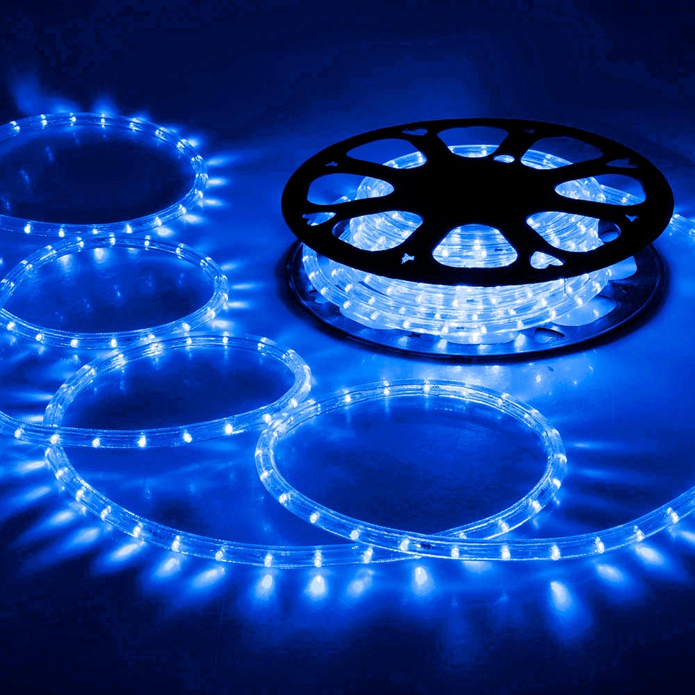 DELight 150ft Blue LED Rope Light Indoor Outdoor Holiday Valentines Party Disco Restaurant Cafe Decoration by Yescom