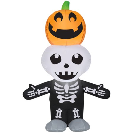 Halloween Airblown Inflatable Jack O Lantern and Skeleton Stack Scene 5.5FT Tall by Gemmy Industries](Halloween Jack O Lantern Tradition)