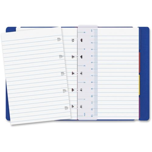 Rediform Filofax Notebook - 112 Pages - Printed - Twin Wirebound - Ruled - 100 g/m² Grammage - Off White Paper - Bl