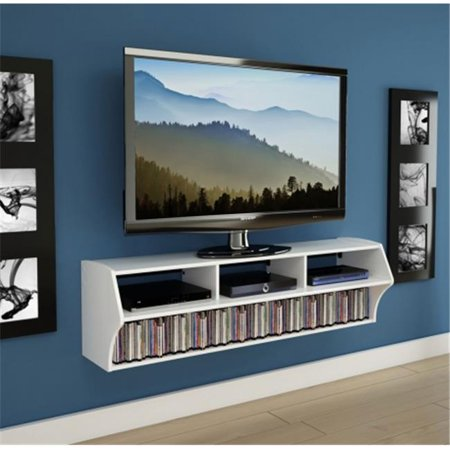 Prepac WCAW-0208-1 White Altus Plus Wall Mounted Audio & Video Console