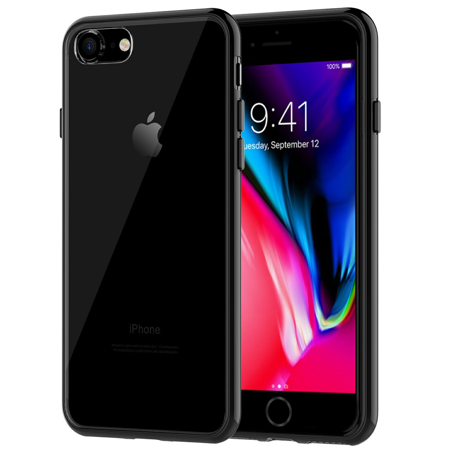 iPhone 7 Case, JETech Apple iPhone 7 Case Cover Shock-Absorption Bumper and Anti-Scratch Clear Back for iPhone 7 4.7 Inch (Black) - 3421