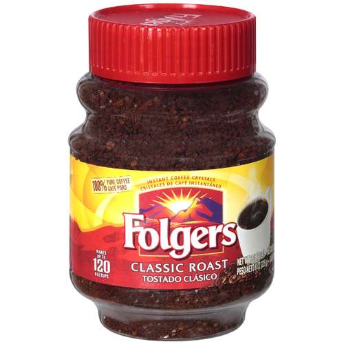 Folgers Classic Roast Instant Coffee, 8 Oz