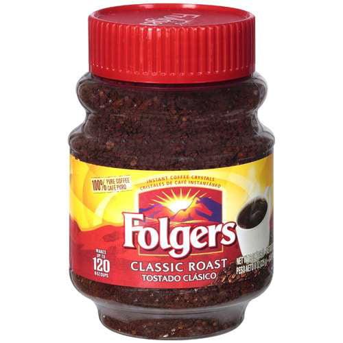 Folgers Classic Roast Instant Coffee, 8 Oz