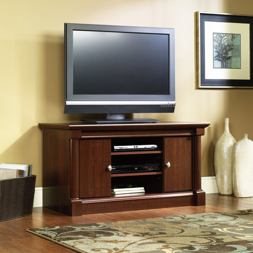 Sauder Palladia TV Stand, Cherry, for TVs up to 47""