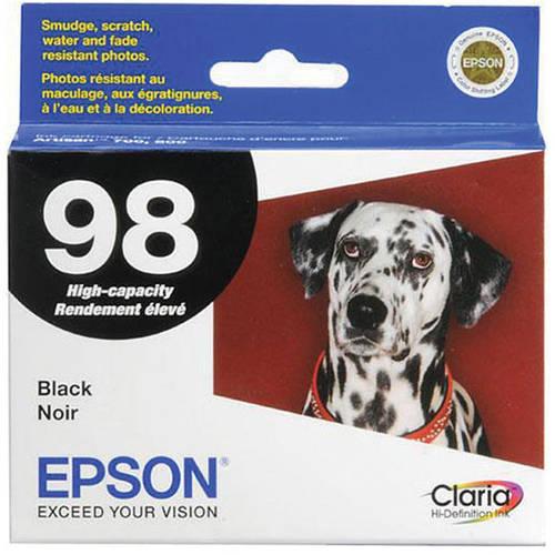 Epson T098120 (98) Claria High-Yield Black Inkjet Cartridge