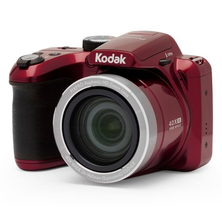 KODAK PIXPRO AZ401 Bridge Digital Camera - 16MP 40X Optical Zoom HD720p video (Red) F10 Digital Camera
