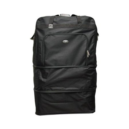 Hercules Luggage Black Heavy Duty Polyester 40-inch Wheeled Bag Snowboard Bags Wheels