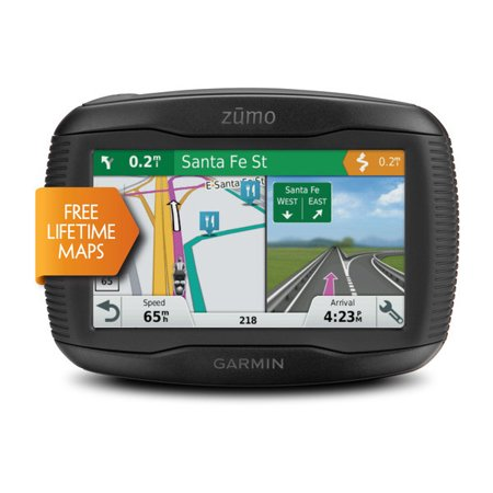 zumo 395LM Motorcycle GPS with Lane Assist and Bluetooth and Lifetime Map Updates (Certified (Best Motorcycle Gps Units)