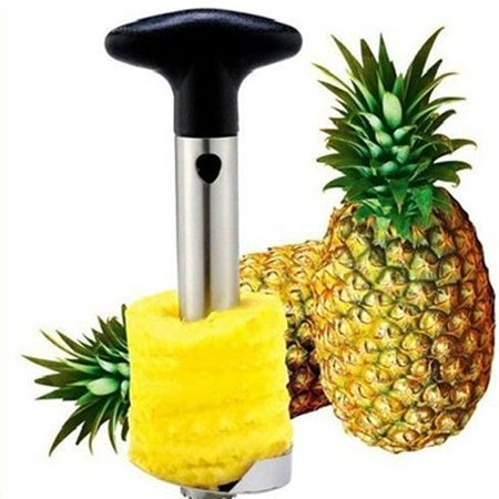 Tools Kitchen Peelers (Pineapple Corer Slicer Stainless Steel 18/10 Easy To Use Kitchen Tool Fruit Peeler Stem Remover Blades for Diced Fruit Rings All in One Non Slip Detachable Handle Sharp Blades )