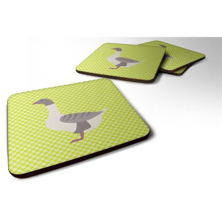 Carolines Treasures BB7727FC Buff Grey Back Goose Green Foam Coaster, Set of 4 - image 1 of 1