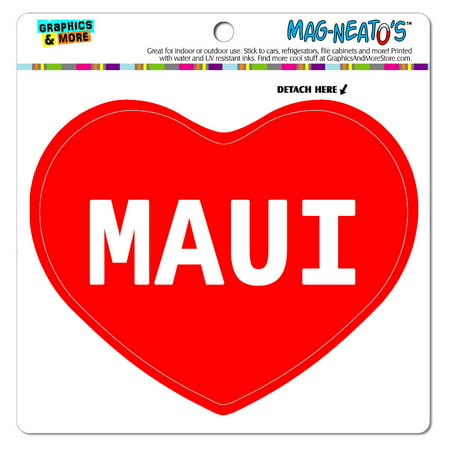 I Love Heart - Places Things - Maui - MAG-NEATO'S(TM) Vinyl (Best Place To Paddleboard In Maui)