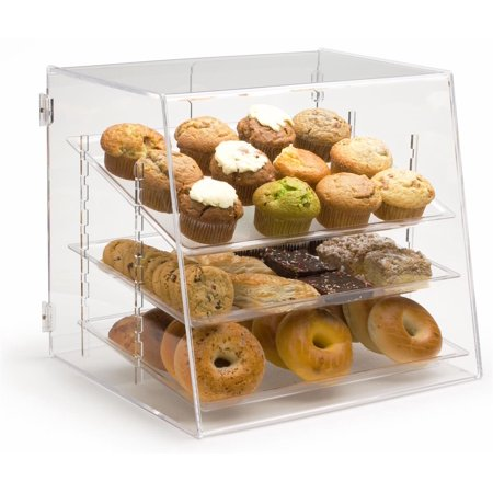 Pastry Display Case with 3 Removable Trays, Rear Door - 19