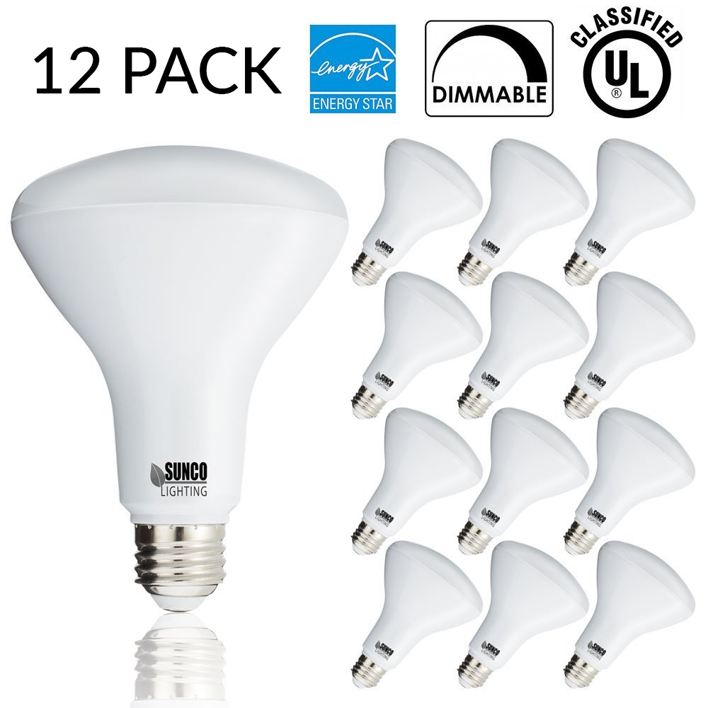 SUNCO 12 PACK - BR30 LED 11WATT (65W Equivalent), 2700K Soft White, DIMMABLE, Indoor/Outdoor Lighting, 850 Lumens, Flood Light Bulb, UL & ENERGY STAR LISTED