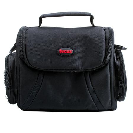 Focus Camera Deluxe SLR Soft Photo and Video Medium Case with Shoulder Strap and 2 (Camera Shoulder Bag)