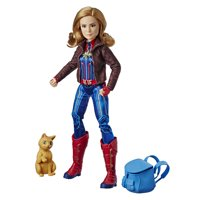 Captain Marvel Super Hero Doll & Marvels Goose the Cat