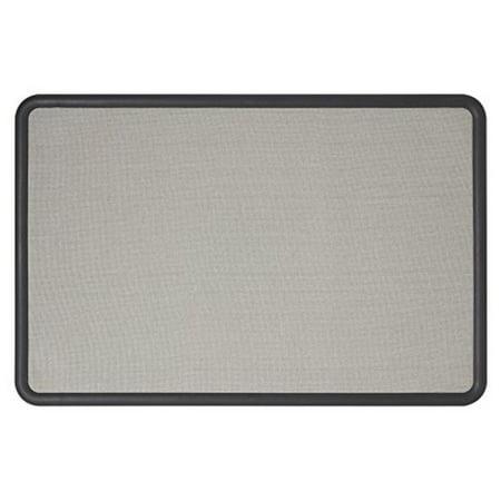 Quartet Bulletin Board, Fabric, 3 x 2 Feet, Office Bulletin Boards, Contour Gray Plastic Frame (7693G) Boone Plastic Frame Fabric