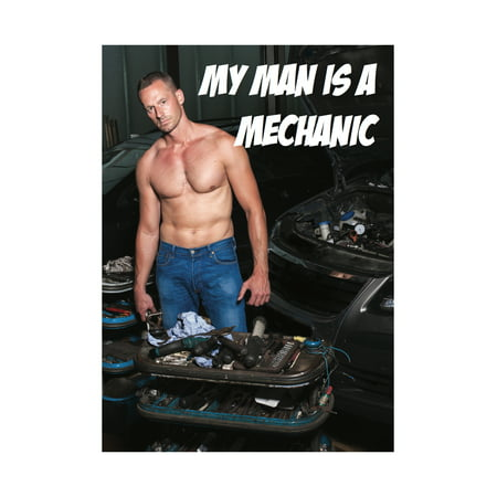 My Man Is A Mechanic Male Model Sexy Garage Home Wall Decoration (Plastic Model Airplane Decals)