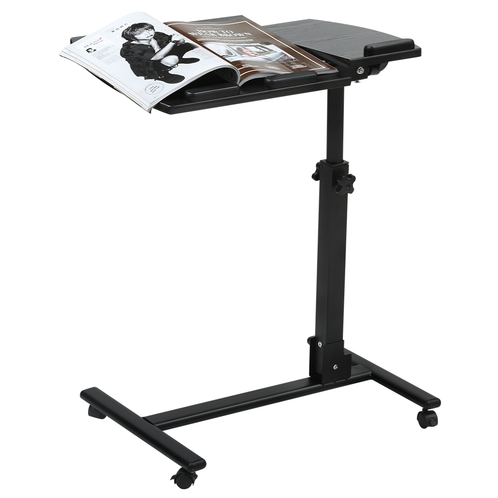 LANGRIA Portable Rolling Laptop Cart, Mobile Desk Notebook with ...