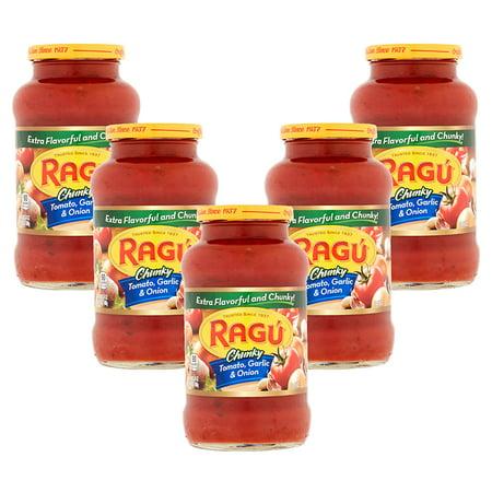 Instant Noodles Garlic ((5 Pack) Ragú Chunky Tomato, Garlic & Onion Sauce 24 oz. )