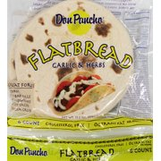 "Don Pancho 7"" Garlic Flatbread, 6 ct, 13.2 oz"