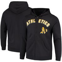 Oakland Athletics Majestic Come Back Win Fleece Full-Zip Hoodie - Black