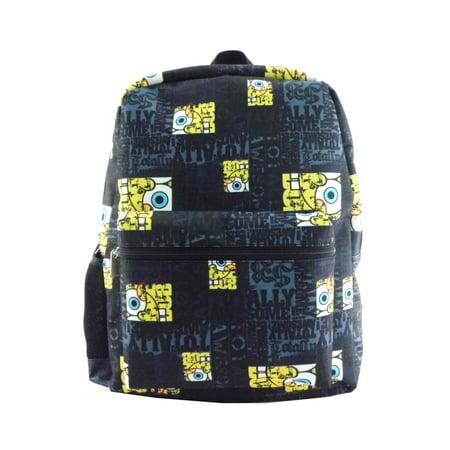 Spongebob Squarepants Print Licensed Backpack Black One Size](Spongebob Accessories)