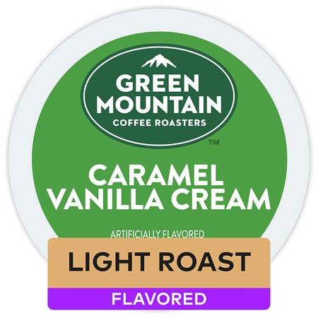 Green Mountain Coffee Roasters Caramel Vanilla Cream Keurig Single-Serve K-Cup Pods, Light Roast Coffee, 32 Count
