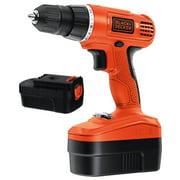 BLACK+DECKER 18-Volt Ni-Cad Cordless Drill-Driver With 2 Batteries, GCO18-2WM