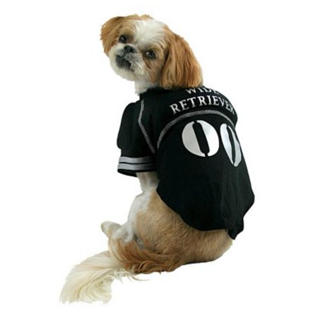 Female Football Player Halloween (Wide Retriever Dog Costume Padded Pet Tee Halloween Football Player)