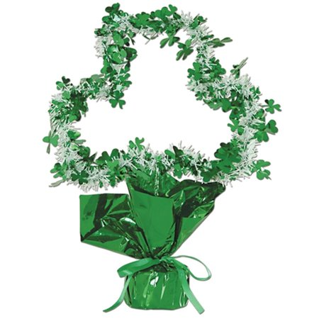 Club Pack of 12 Shamrock Gleam 'N Shape St. Patrick's Day Centerpiece Decorations 11.5
