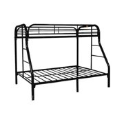 Twin Over Full Black Bunk Bed