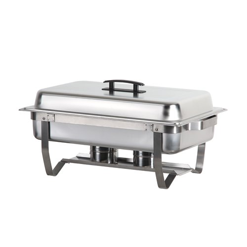 Atosa Foldable Full Size Chafing Dish with Stainless Steel Pan and Lift-Up Lid by