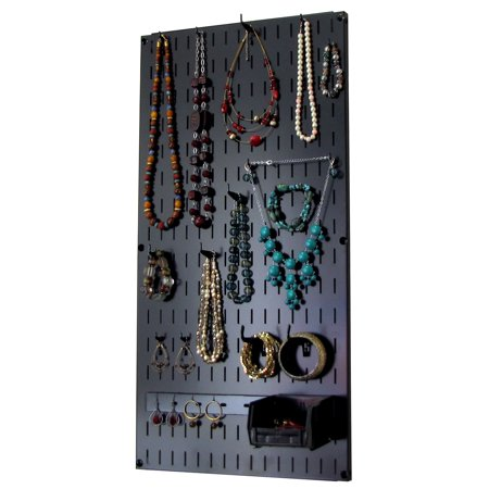 Wall Jewelry Holder - Wall Control Jewelry Organizer Wall Hanging Jewelry Holder Necklace Rack – Black Wall Mounted Jewelry Organizer System