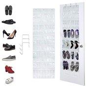 Over The Door Shoe Organizer,Hanging Shoe Rack Shoe Storage Closet 24 Pockets