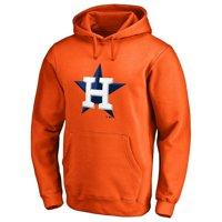 Houston Astros Secondary Color Primary Logo Pullover Hoodie - Orange