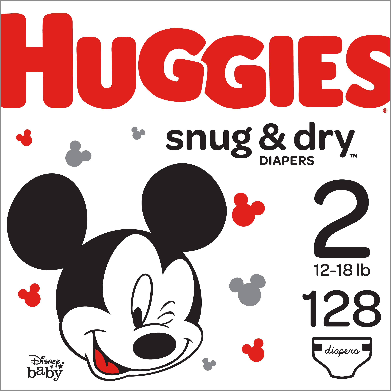 HUGGIES Snug & Dry Diapers, Size Newborn, 132 Count