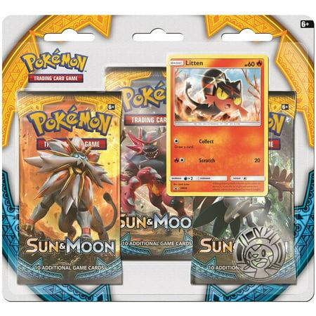 Pokemon Sun And Moon 1 3 Pack Plus Promo Card Walmartcom