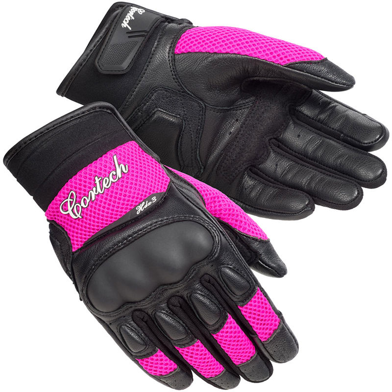 Cortech HDX 3 Womens Vented Motorcycle Gloves Pink/Black