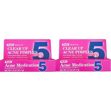 Rugby Acne Medication Benzoyl Peroxide Gel 5 % 1.5 oz