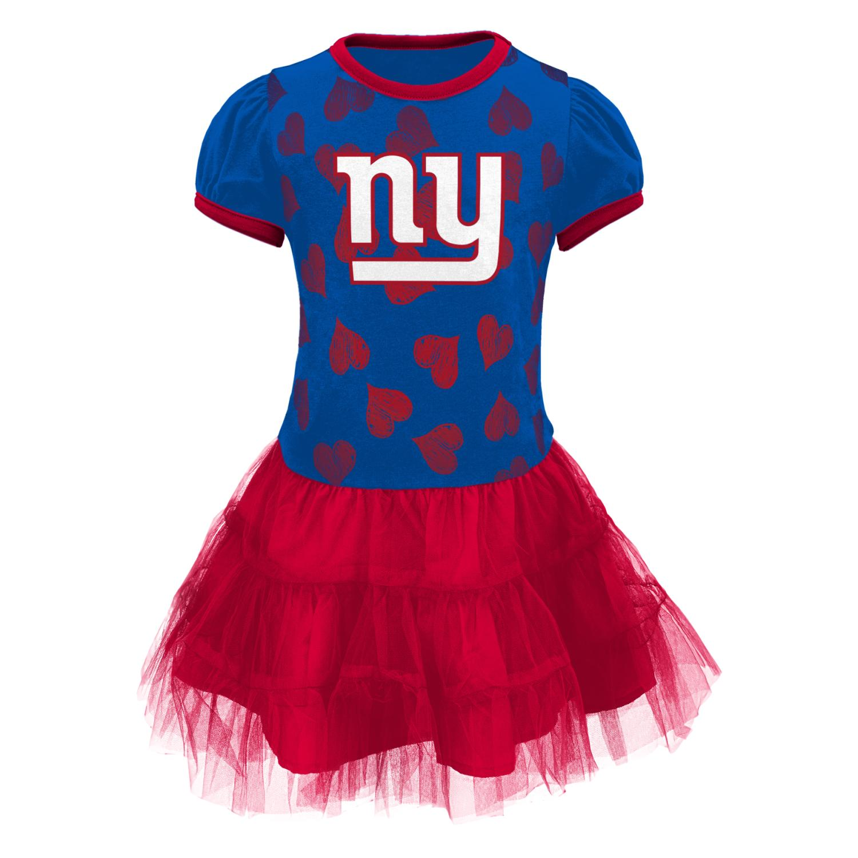 "New York Giants NFL ""Love to Dance"" Toddler Girls Tutu Dress"