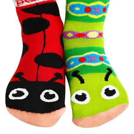 rétro meilleure vente profitez de la livraison gratuite Pals Socks PS-20 Coccinelle et chenille - Chaussettes amusantes pour  tout-petits, 4-8 ans