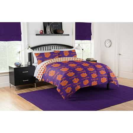 NCAA Clemson Tigers Bed In Bag Set Clemson Tigers Ncaa College Bedding