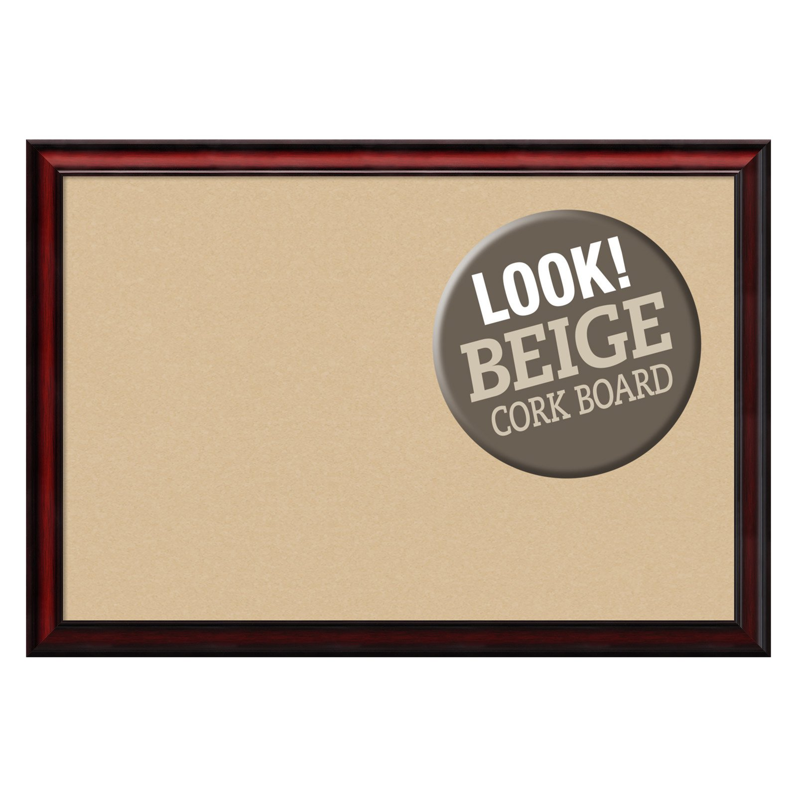 Amanti Art Rubino Cherry Scoop Framed Cork Board