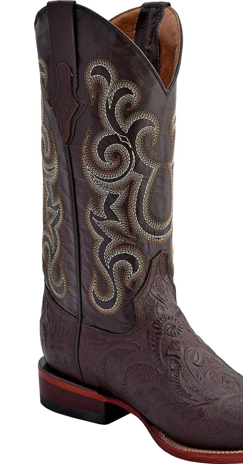 Ferrini Men's Embossed Tooled Western Boot Square Toe 1189309 by Ferrini