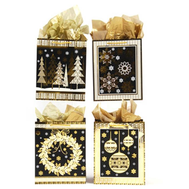 DDI 2280643 Medium Golden Christmas Hot Stamp Bag, Case o...