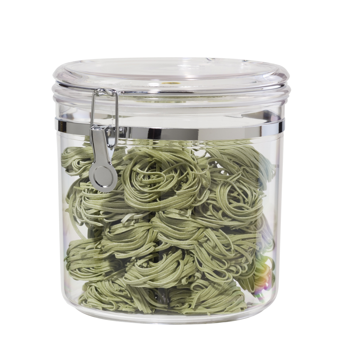 Oggi Jumbo Acrylic Airtight Canister with Clamp - 130 Ounce