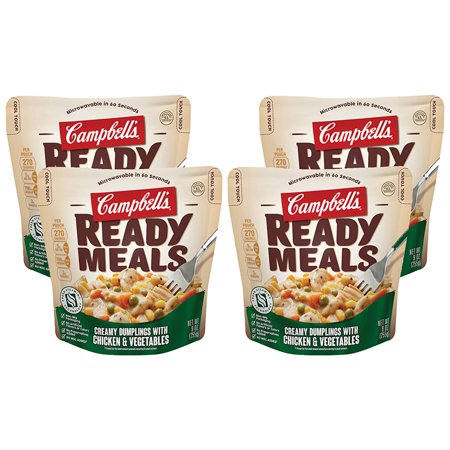 (4 Pack) Campbell's Ready Meals Creamy Dumplings with Chicken & Vegetables, 9