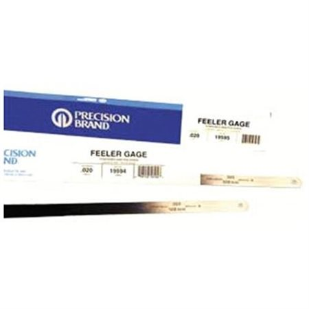 "Precision Brand - Flat Length Steel Feeler Gauges .040 1/2""X 12"" Steel Feeler Gage Flat L: 605-19790 - .040 1/2""x 12"" steel feeler gage flat l (Set of 10)"
